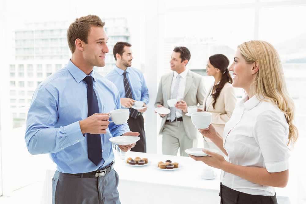 Business People Small Talk
