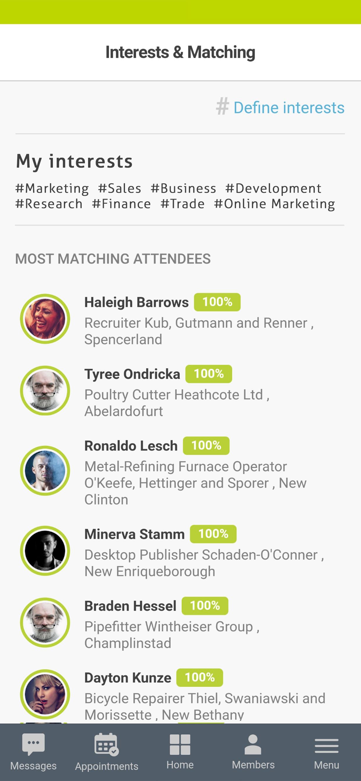 B2B - Matchmaking