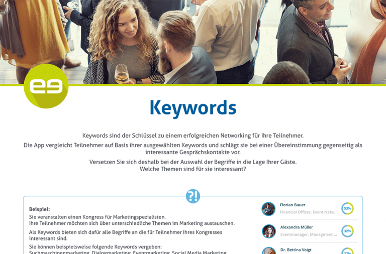 Keyword Guideline - congreet Event Software