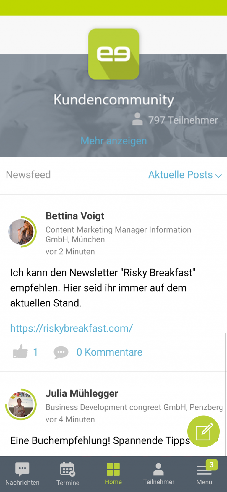Newsfeed - Community Software